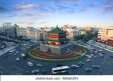 China Xi'an city landmark, the bell tower