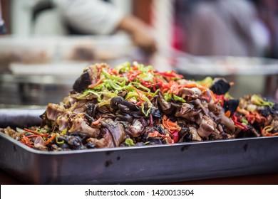 China Xinjiang Urumqi Night Market Hu spicy sheep hoof