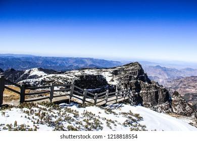 China Yunnan Kunming Jiaozi Snow mountain Photographed in January 2018