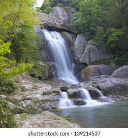 "China Zhejiang, ""Shiliangfei the waterfall."" A very well-known natural waterfall."