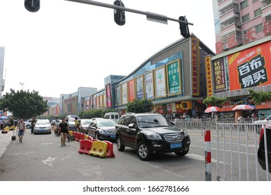 China,Guangzhou-25 October 2015: The largest fabric wholesale market in Guangzhou.