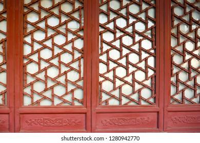 China's ancient architecture details window lattice