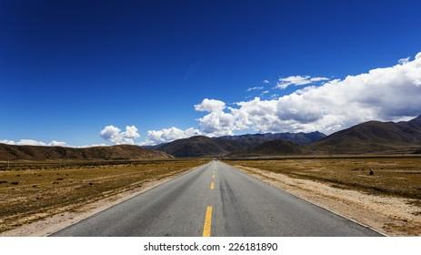 China's Tibet, field road