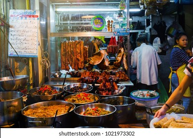 CHINATOWN, BANGKOK - FEB 11: People browse around Old Market in Yaowarat road before Chinese New Year on February 11, 2018. Chinatown in Bangkok is one of the most famous landmark in Bangkok.