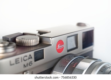 Chinatown,Bangkok/Thailand - November 17 2017 : The Leica camera is a popular rangefinder camera that made in germany with advanced mechanical and design for professional to shot street photography.