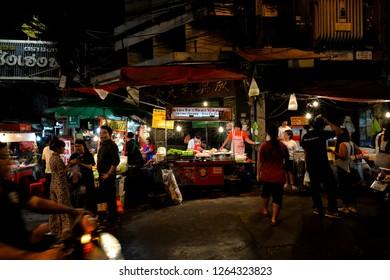 Chinatown(Yaowarat),Bangkok,Thailand - March 10, 2017 : Yaowarat Night Market.