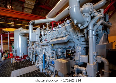 Chinchilla  Australia Nov, 23, 2018: Natural gas compression station in the energy sector,