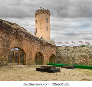 The Chindia Tower (Turnul Chindiei in romanian) famous tower at Princely Court, in Targoviste, Romania, The Real Palace of Vlad Tepes, built in the 15th century.