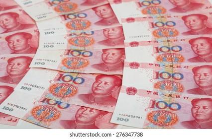 Chinese 100 Yuan Banknotes