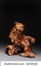 Chinese 19th century bronze opium weight,
