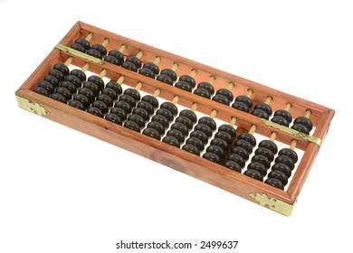A Chinese abacus isolated on white background
