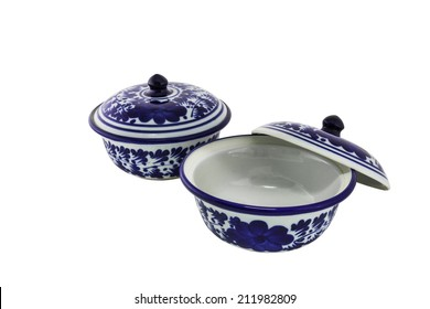 chinese antique bowl on the white background