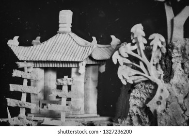 Chinese architecture made of cork