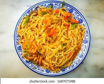 Chinese authentic noodles or La Mian (Ramen in Japanese). Also known as hand-pulled lamian (La meaning pull, mian meaning noodle). An ancient Chinese tradition food that dates back to the 16th century