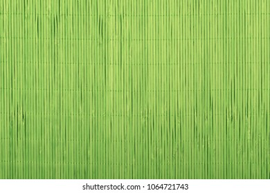 Chinese bamboo green tablecloth background.