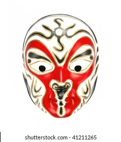 Chinese Beijing opera mask,isolated on white background.