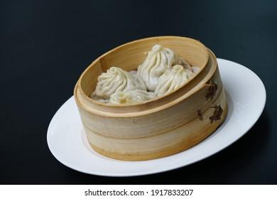 Chinese breakfast soup dumplings bun