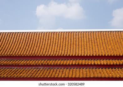 Chinese brick roof