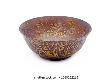 Chinese Bronze bowl / bronze Liqour cup, isolated on white background