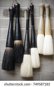 Chinese brushes hung, china