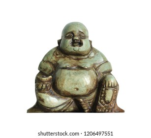 Chinese buddha statue (with clipping path) isolated on white background