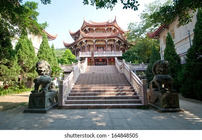 Chinese Buddhist Temple in Xiamen, China