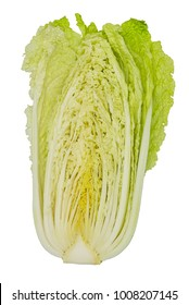 chinese cabbage, Brassica rapa ssp pekinensis, isolated on white