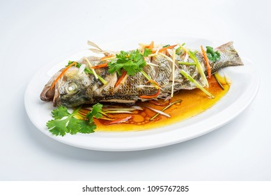 Chinese Cantonese Cuisine - Steamed Sea Bass