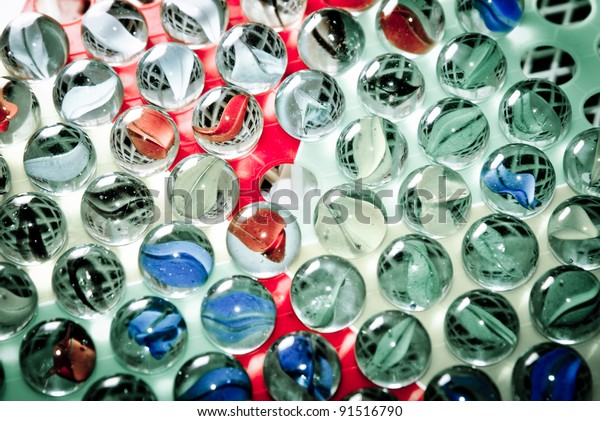Chinese checkers glass ball background