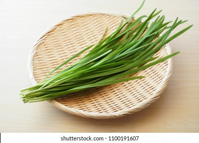 Chinese chives,Garlic chives.