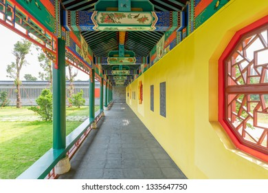 Chinese Corridor in Confucius Temple in Tunxi, Guangdong