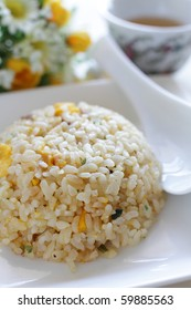 Chinese cuisine, roasted port and egg Fried rice