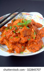 Chinese Cuisine - Sweet and sour Pork with tomato
