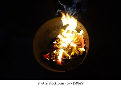 Chinese culture , Chinese descendants  were burnt silver paper , gold paper  and hell money for ancestors who have passed away.