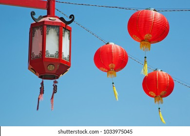 Chinese decorations in Chinatown of Los Angeles