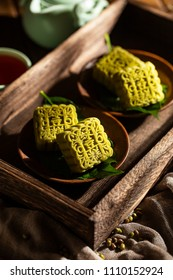 Chinese dragon boat festival food mung bean cake