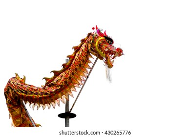 Chinese dragon during the Year of the lunar snake a traditional Chinese holiday, on white background