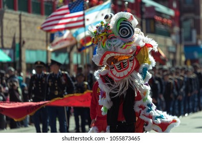 Chinese dragon monster on a Chinese New Year parade