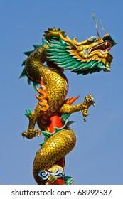 chinese dragon pillar