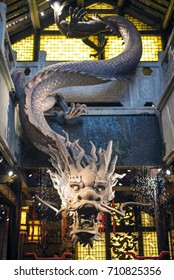 Chinese dragon, wood carving