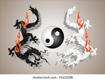 Yin Yang Dragon Images Stock Photos Amp Vectors Shutterstock