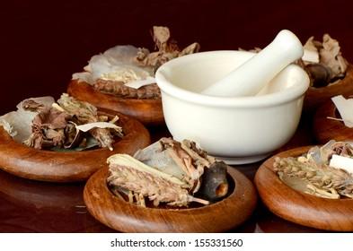 Chinese Dried Herbal Medicine.