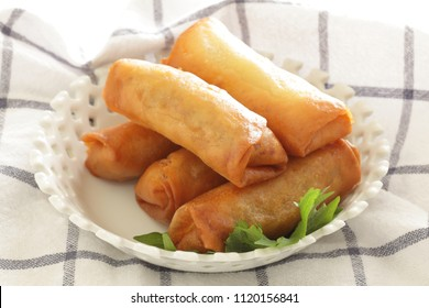 Chinese dumpling, homemade spring roll
