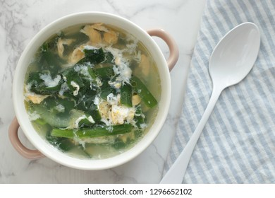 Chinese egg and leek soup