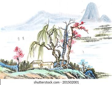 Chinese element, landscape