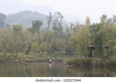Chinese fisherman on the river