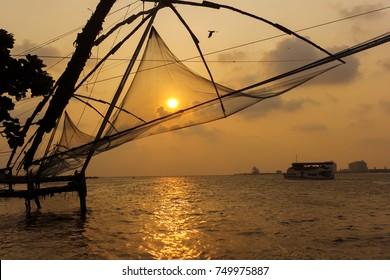 Chinese fishing net fort kochin
