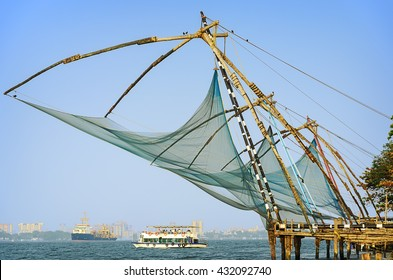 Chinese fishing nets, Cochin South India.