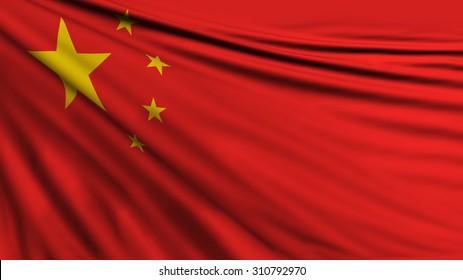 Chinese Flag, China Background