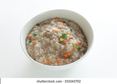 Chinese food, beef congee
